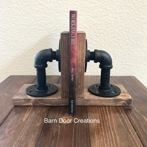 Rustic Industrial Book Ends